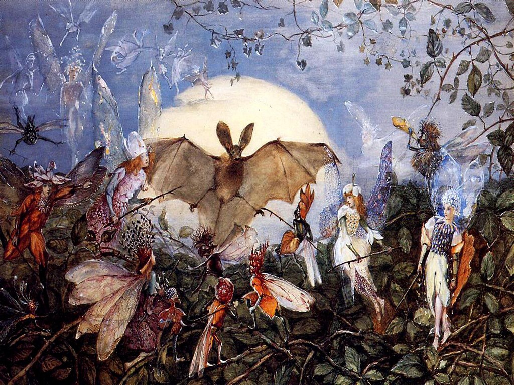 JOhn Anster Fitzgerald,_Fairies Attacking_a_Bat